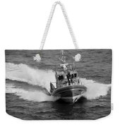 Coast Guard In Black And White Weekender Tote Bag