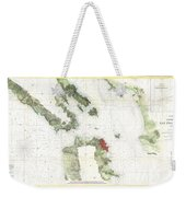 Coast Survey Map Of San Francisco Bay And City Weekender Tote Bag