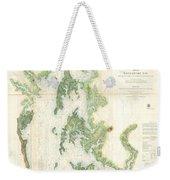 Coast Survey Map Of The Chesapeake Bay  Weekender Tote Bag