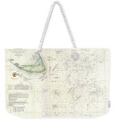 Coast Survey Nautical Chart Or Map Of Nantucket Massachusetts Weekender Tote Bag