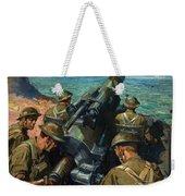 Coastal Battery Scene Artist Terence Cuneo Weekender Tote Bag
