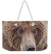 Coastal Brown Bear Closeup Weekender Tote Bag