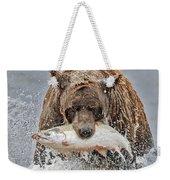 Coastal Brown Bear With Salmon IIi Weekender Tote Bag