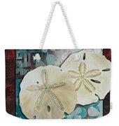Coastal Decorative Shell Art Original Painting Sand Dollars Asian Influence I By Megan Duncanson Weekender Tote Bag