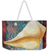 Coastal Decorative Shell Art Original Painting Sand Dollars Asian Influence II By Megan Duncanson Weekender Tote Bag