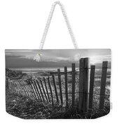 Coastal Dunes In Black And White Weekender Tote Bag