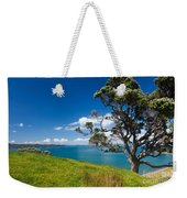 Coastal Farmland Landscape With Pohutukawa Tree Weekender Tote Bag