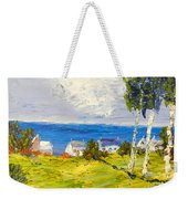Coastal Fishing Village Weekender Tote Bag