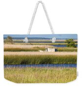Coastal Marshlands With Old Fishing Boat Weekender Tote Bag by Bill Swindaman