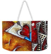 Coastal Martini Cityscape Contemporary Art Original Painting Heart Of A Martini By Madart Weekender Tote Bag