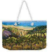 California Coastal Vineyards And Sail Boat Weekender Tote Bag