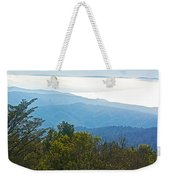 Coastal Range And Clouds From West Point Inn On Mount Tamalpias-california Weekender Tote Bag