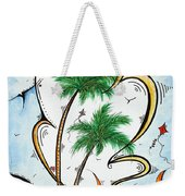 Coastal Tropical Art Contemporary Sailboat Kite Painting Whimsical Design Summer Daze By Madart Weekender Tote Bag