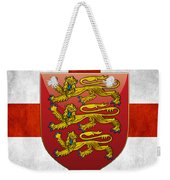 Coat Of Arms And Flag Of England Weekender Tote Bag