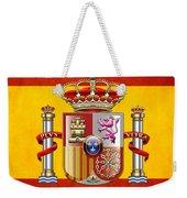 Coat Of Arms And Flag Of Spain Weekender Tote Bag