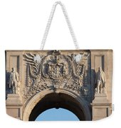 Coat Of Arms Of Portugal On Rua Augusta Arch In Lisbon Weekender Tote Bag