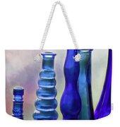 Cobalt Blue Bottles Weekender Tote Bag