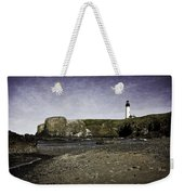 Cobble Beach At Yaquina Lighthouse Weekender Tote Bag
