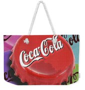 Coca-cola Cap Weekender Tote Bag by Tony Rubino