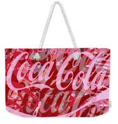 Coca-cola Collage Weekender Tote Bag by Tony Rubino