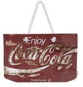 Coca Cola Faded Sign Weekender Tote Bag