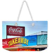 Coca-cola - Old Shop Signage Weekender Tote Bag by Kaye Menner