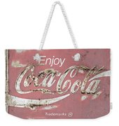 Coca Cola Pastel Grunge Sign Weekender Tote Bag