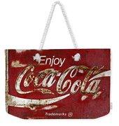 Coca Cola Red Grunge Sign Weekender Tote Bag
