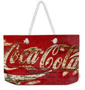 Coca Cola Sign Cracked Paint Weekender Tote Bag