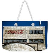 Coca Cola Sign On Old Factory Weekender Tote Bag