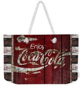 Coca Cola Sign With Little Cokes Border Weekender Tote Bag