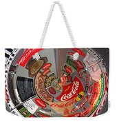 Coca Cola Signs In The Round Weekender Tote Bag