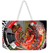 Coca Cola Signs In The Round Posterized Weekender Tote Bag