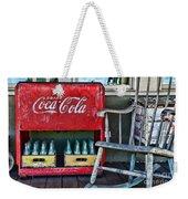 Coca Cola Vintage Cooler And Rocking Chair Weekender Tote Bag