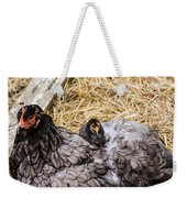 Cochin Hen And Chick Weekender Tote Bag