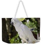 Cockatoo White Parrot Weekender Tote Bag