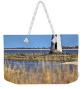 Cockspur Lighthouse In The Sanannah River Weekender Tote Bag