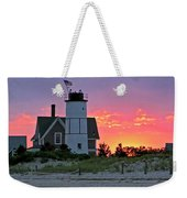 Cocktail Hour At Sandy Neck Lighthouse Weekender Tote Bag by Charles Harden