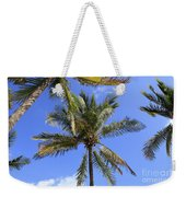 Cocoanut Palm Trees Sky Background Weekender Tote Bag