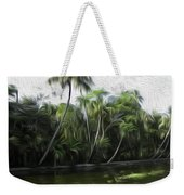 Coconut Trees And Other Plants Lined Up Weekender Tote Bag