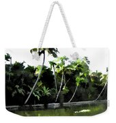 Coconut Trees And Others Plants In A Creek Weekender Tote Bag