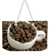 Coffe Beans And Coffee Cup Weekender Tote Bag