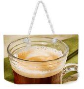 Coffe In Tall Glass On Green Weekender Tote Bag