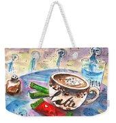 Coffee Break In Spili In Crete Weekender Tote Bag