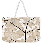Coffee Brown Leaves Melody Weekender Tote Bag