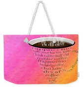 Coffee Cup The Jetsons Sorbet Weekender Tote Bag