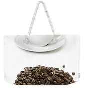 Coffee Cups And Coffee Beans Weekender Tote Bag