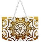 Coffee Flowers 10 Calypso Ornate Medallion Weekender Tote Bag