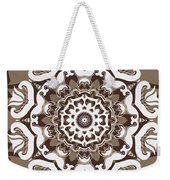 Coffee Flowers 10 Ornate Medallion Weekender Tote Bag by Angelina Vick
