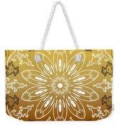 Coffee Flowers 11 Calypso Ornate Medallion Weekender Tote Bag